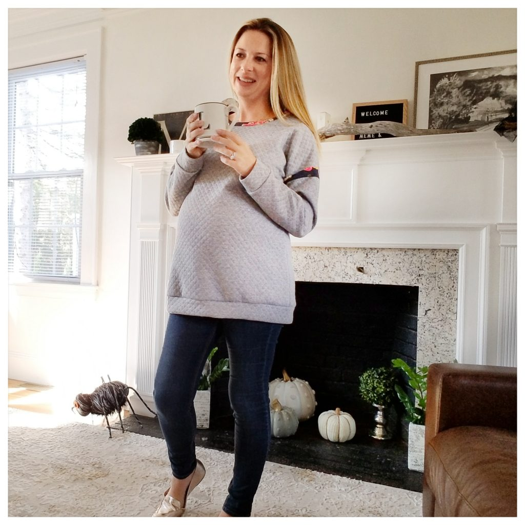 32 weeks - Pink Blush Maternity | The Brit in Boston