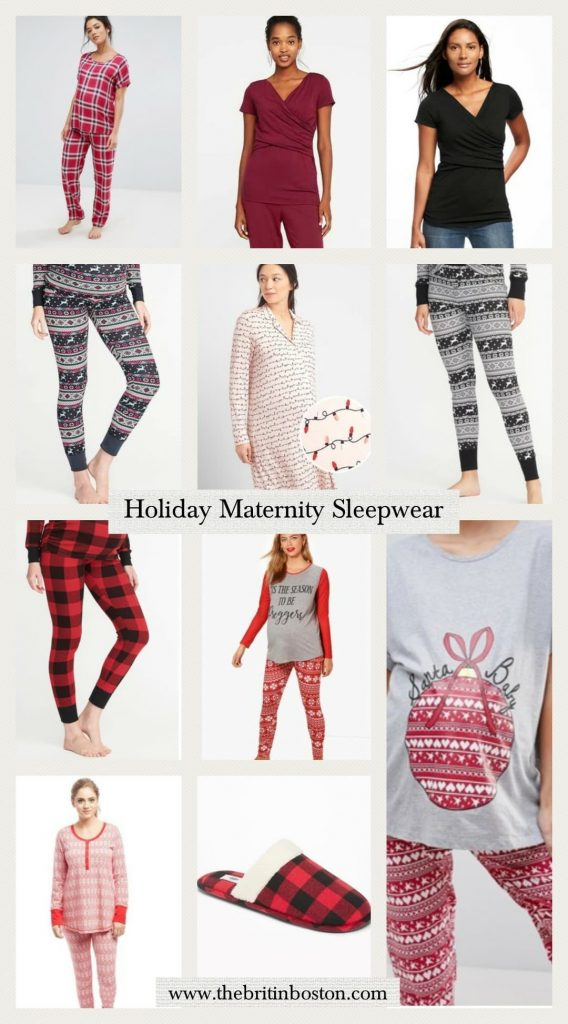 check tee pant pajama set burgundy wrap front nursing top black wrap front nursing top maternity thermal fair isle print maternity lights - Maternity Christmas Pajamas